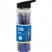 Caneta Spiro Esferográfica 0.7 Multicor Garrafa com 24 Unidades Azul e Preta Cis