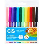 Canetinha Hidrográfica Color 12 Cores Cis