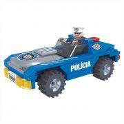 Carro Policial 98 Peças Blocos de Montar Click It