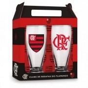 Conjunto 2 Copos Munich Times Flamengo Presente Brasfoot