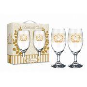 Conjunto 2 Taças Windsor Bodas de Ouro 50 Anos Presente Brasfoot