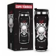 Copo Térmico Caveira Lets Rock 450ml Brasfoot
