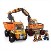 Escavadeira e Caminhão Construtores 317 Peças Blocos de Montar Click It