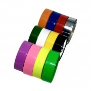 Fita Adesiva Colorida 12x10  kit com 50 unidades Fit-Pel