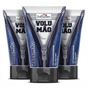Gel Volumão Kit 3 unid Intensificador Aumento do Pênis Prolonga 25g Hot Flowers