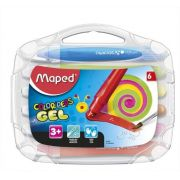 Giz Em Gel Macio Aquarelavel Color Peps 6 Cores Maped