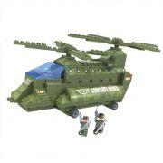 Helicóptero do Exército 308 Peças Blocos de Montar Click It