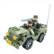 Jipe do Exército 108 Peças Blocos de Montar Click It