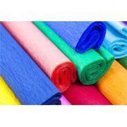 Kit c/ 10 Papel Crepom Comum Colorido 48cmx2M cores variadas Nova Print
