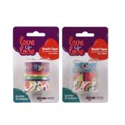 Kit Fita Adesiva Decorada Washi Tape Love is Love 15mmx3m Leo Arte