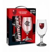 Kit Churrasqueiro Flamengo Avental e Taça Presente Brasfoot