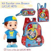 Kit Mochila Escolar com Boneco Luccas Neto Original