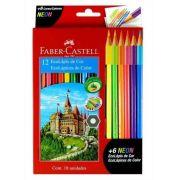 Lápis de Cor 12 cores Ecolápis + 6 Lápis de Cor Neon Faber Castell