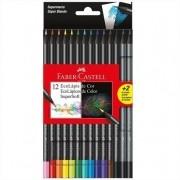 Lápis de Cor 12 cores redondo SuperSoft Ecolápis + 2 Lápis Grafite Faber Castell