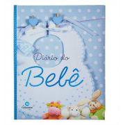 Livro Diário do Bebê Capa Dura Menino Azul Culturama