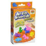 Areia De Modelar Cinética Pocket 150g Divertida Magica Animal  Dm Toys