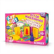 Mini Livro 3D Princesas com Massinha Moldes e Cortadores 450g Acrilex