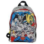 Mochila Escolar De Costas DC Comics Liga Da Justiça Cinza Santino