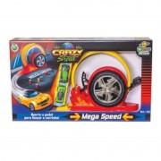Pista Lançador Crazy Street Mega Speed 2 Carrinhos BS Toys