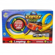 Pista Super Looping 360° Crazy Streets Com Carrinho Disparador BS Toys