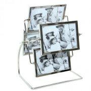 Porta Retrato 10x15cm Giratório 8 Fotos Roda