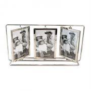 Porta Retrato 10x15cm Giratório Metal 6 Fotos Vertical Importado
