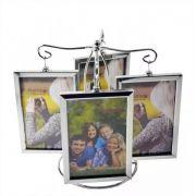 Porta Retrato 10x15cm Pêndulo Metal 8 Fotos Vertical Importado