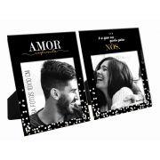Porta Retrato Duplo 10x10cm - Amor, é o que eu Quero para Nós Presente Namorados Brasfoot