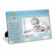 Porta Retrato Foto 10x15cm - Bebe Azul Oração Pai Nosso Brasfoot