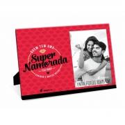 Porta Retrato Vermelho Foto 10x15cm - Super Namorada Presente Brasfoot