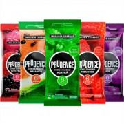 Preservativo Sabores e Cor Camisinha Prudence kit com 4 pacotes
