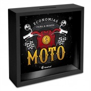 Quadro Cofre 18x18cm - Economias Para Minha Moto Brasfoot