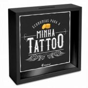 Quadro Cofre 18x18cm - Economias Para Minha Tattoo Tatuagem Brasfoot