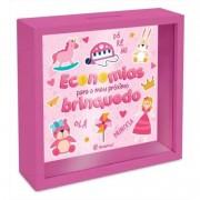 Quadro Cofre Rosa Kids - Economia Para Meu Brinquedo Brasfoot