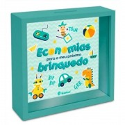 Quadro Cofre Verde Kids - Economia Para Meu Brinquedo Brasfoot