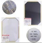 Quadro Decorativo Para Recados Alfanumérico 20x30cm 1 Unidade Master Frame