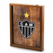 Quadro Decorativo Porta Rolhas Vinho Escudo Atlético Mineiro 40x30cm Brasfoot