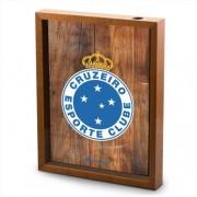 Quadro Decorativo Porta Rolhas Vinho Escudo Cruzeiro 40x30cm Brasfoot