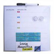 Quadro Lousa Magnética Calendário e Anotações 29cm com Caneta e 2 Imãs FWB