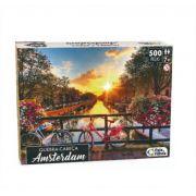 Quebra Cabeça Cartonado Amsterdam 500 Peças Jogos Pais e Filhos