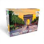 Quebra Cabeça Cartonado Arco do Triunfo Paris 500 Peças Jogos Pais e Filhos