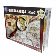 Quebra Cabeça Mundi Premium 500 Peças Pais e Filhos
