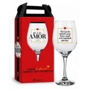 Taça de Vinho na Caixa Meu Amor Dia Especial Presente Brasfoot