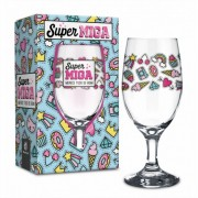 Taça Windsor 330ml - Super Miga Presente Amiga Brasfoot