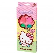 Tinta Aquarela Estojo Hello Kitty com 12 cores e Pincel Molin do Brasil