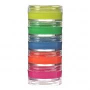 Tinta Facial Cremosa Fluorescente Neon Kit com 5 cores Colormake