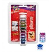 Tinta Pintura Para Pele Glitter em Pó 10 cores Colormake