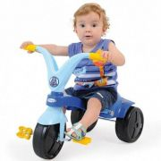 Triciclo Velotrol Fokinha Infantil Meninos Azul Xalingo