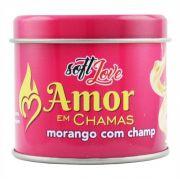 Vela Beijável com Feromônio Amor em Chamas 50g Soft Love