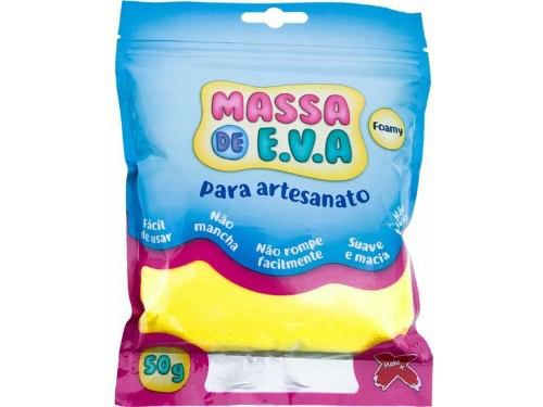 Massa Eva Lisa Artesanato Foamy 50g Kit com 10 unidades Make Mais